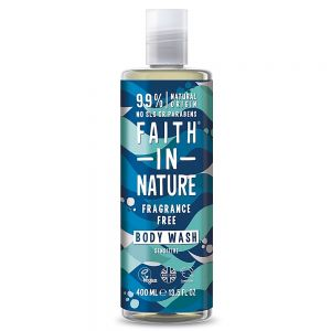 Gel de dus si spuma de baie fara miros, Faith in Nature, 400 ml  (FN091)