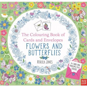 The Colouring Book of Cards and Envelopes – Flowers and Butterflies