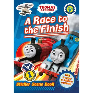 Thomas & Friends: A Race to the Finish (Sticker Scene Book)