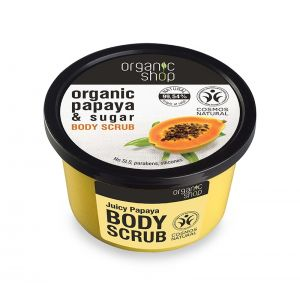 Scrub de corp delicios cu zahar si papaya Juicy Papaya, 250 ml (2516E)